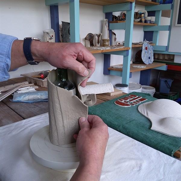 Clay wrap construction - 2Minty Studio