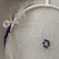 Purple Cream Dreamcatcher Crop Top