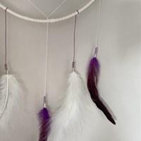 Purple Cream Dreamcatcher Crop Feathers